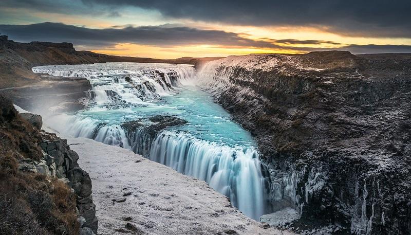 Водопад Гюдльфосс в Исландия